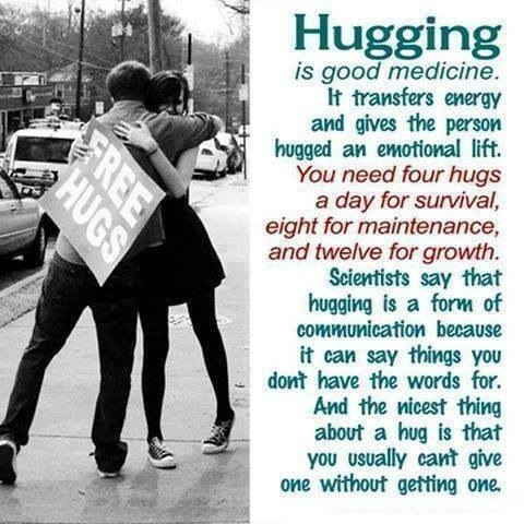 Who have you hugged lately?