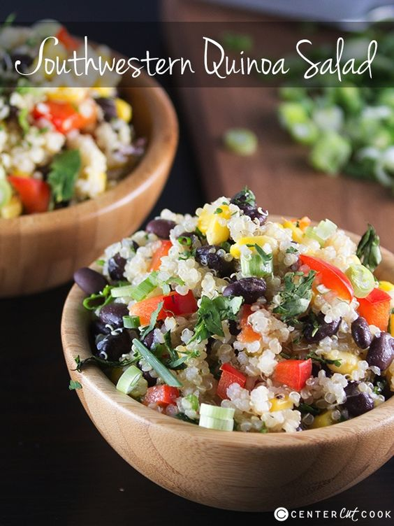 Southwestern Quinoa Salad With Black Beans, Red Bell Pepper, And ...